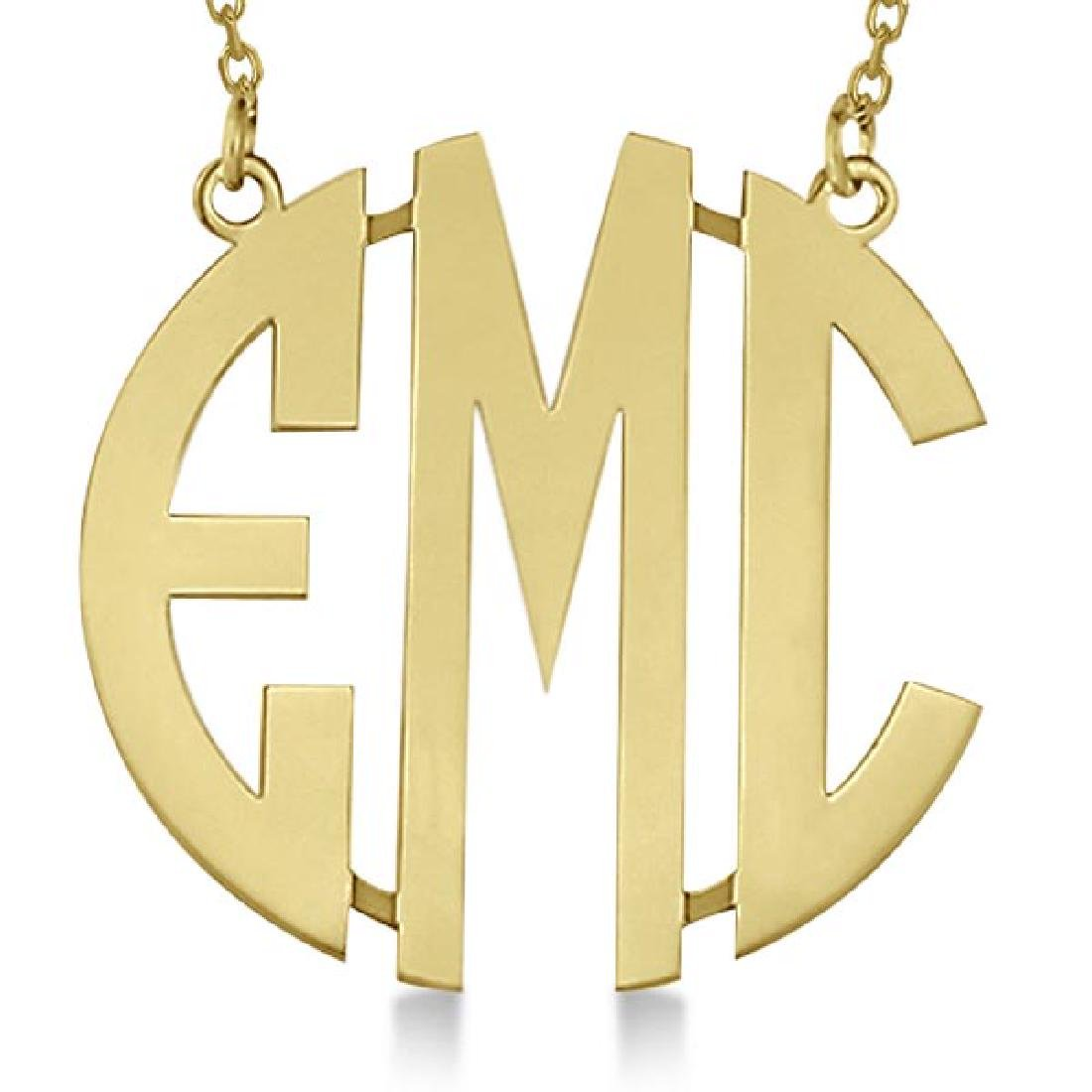 Bold-Face Custom Initial Monogram Pendant Necklace in 1