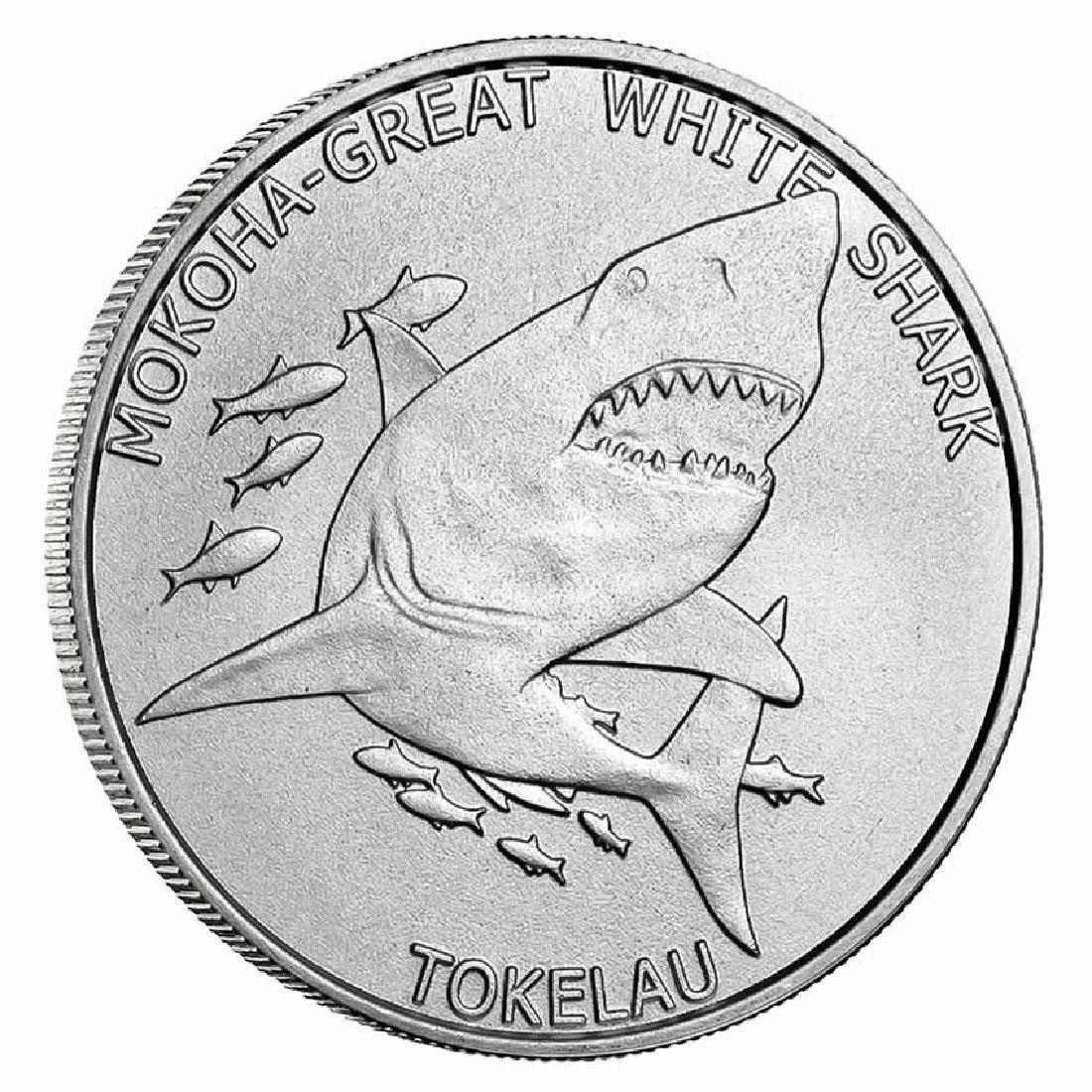 Tokelau Mokoha Great White Shark 2015 1 oz Silver $5
