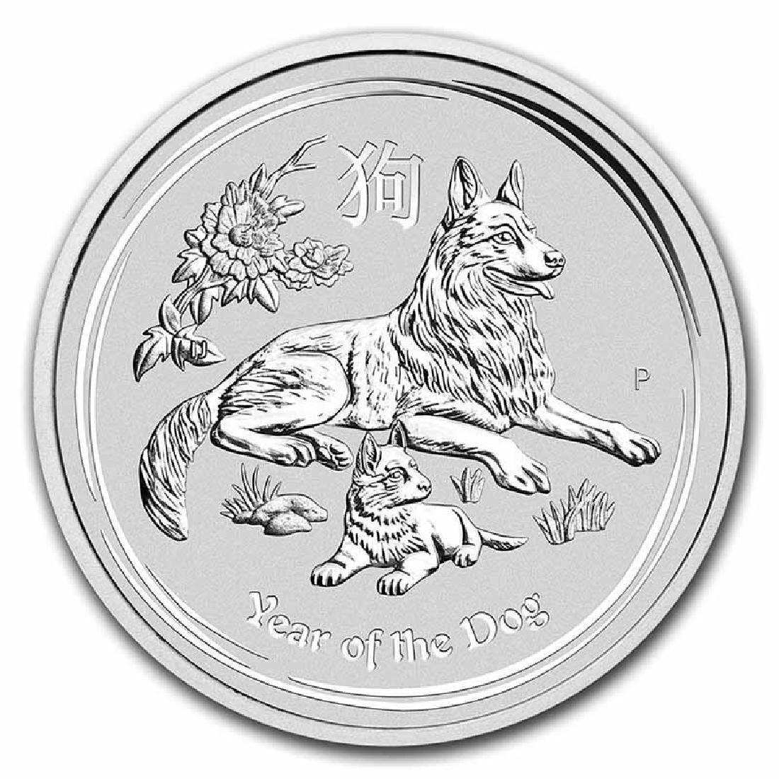 2018 Australia 10 oz Silver Lunar Dog