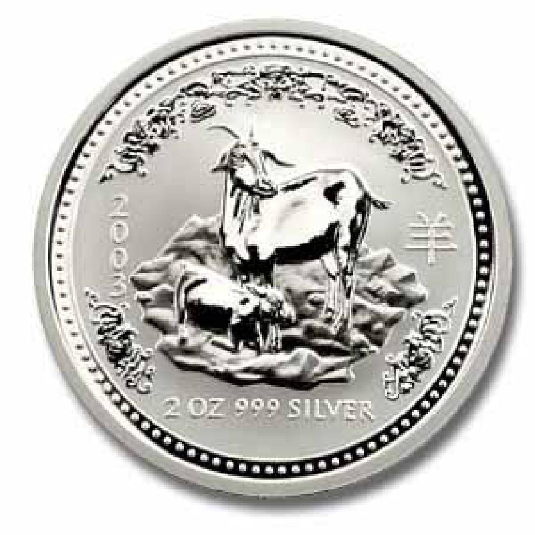 2003 Australia 2 oz Silver Lunar Goat