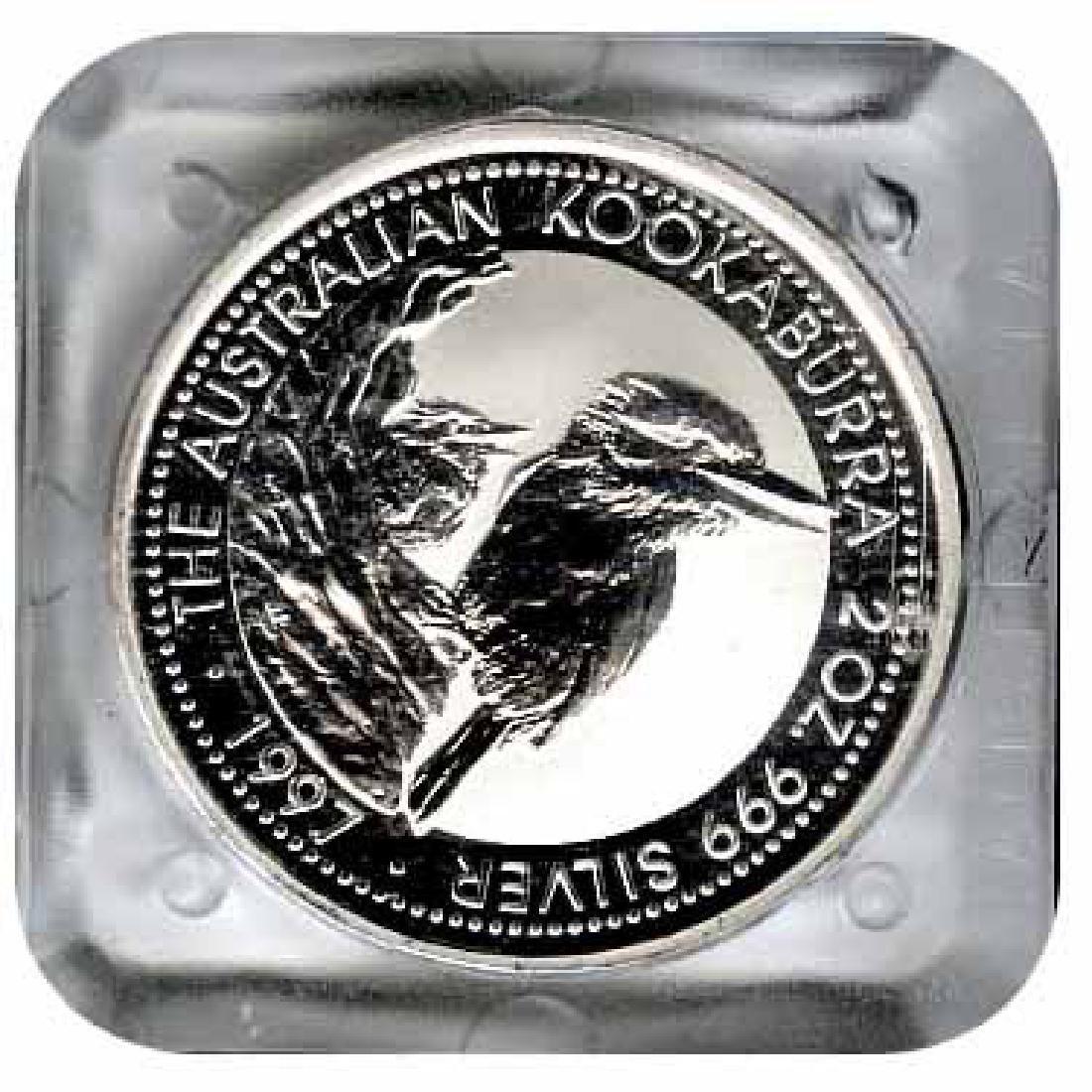Australian Kookaburra 2 oz. Silver 1997