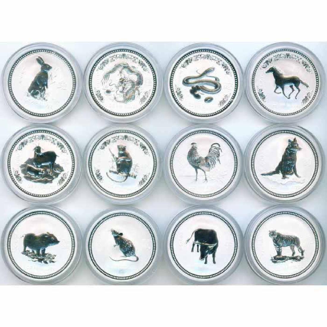 Australia Lunar 1 oz. Silver 12 pc. Set With Box
