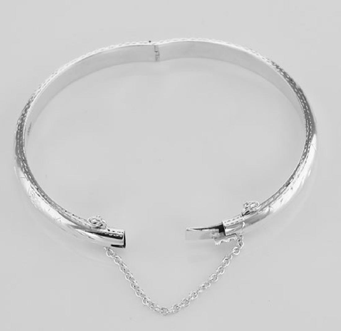Cute Sterling Silver Baby Bangle Bracelet - 5 mm - 2