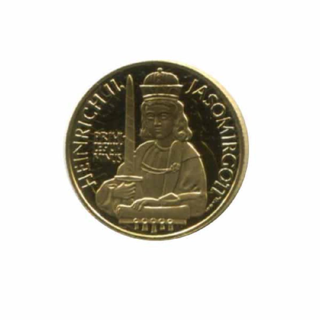 Austria 500 schilling gold PF 1996 Heinrich II