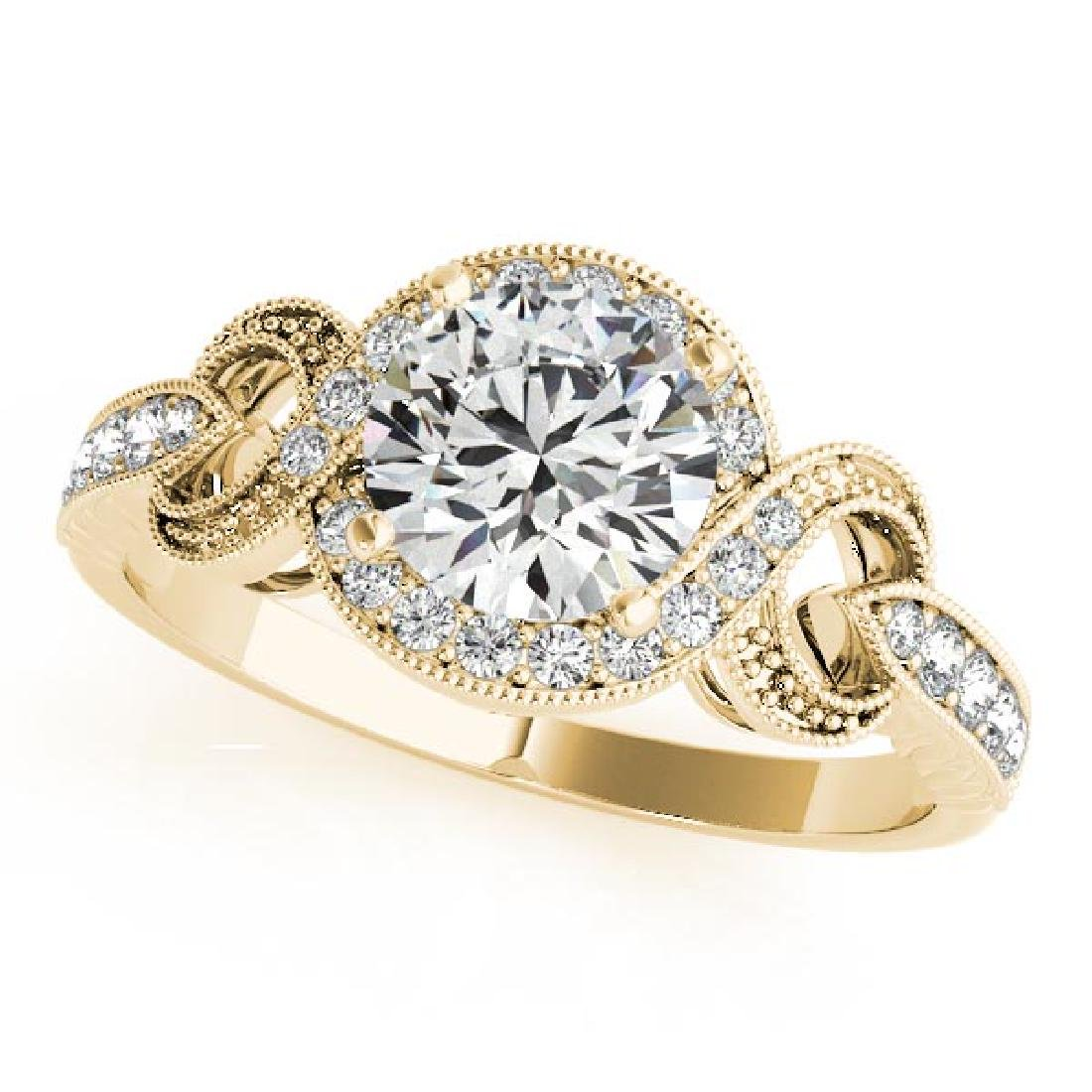 CERTIFIED 18K YELLOW GOLD 0.76 CT G-H/VS-SI1 DIAMOND HA