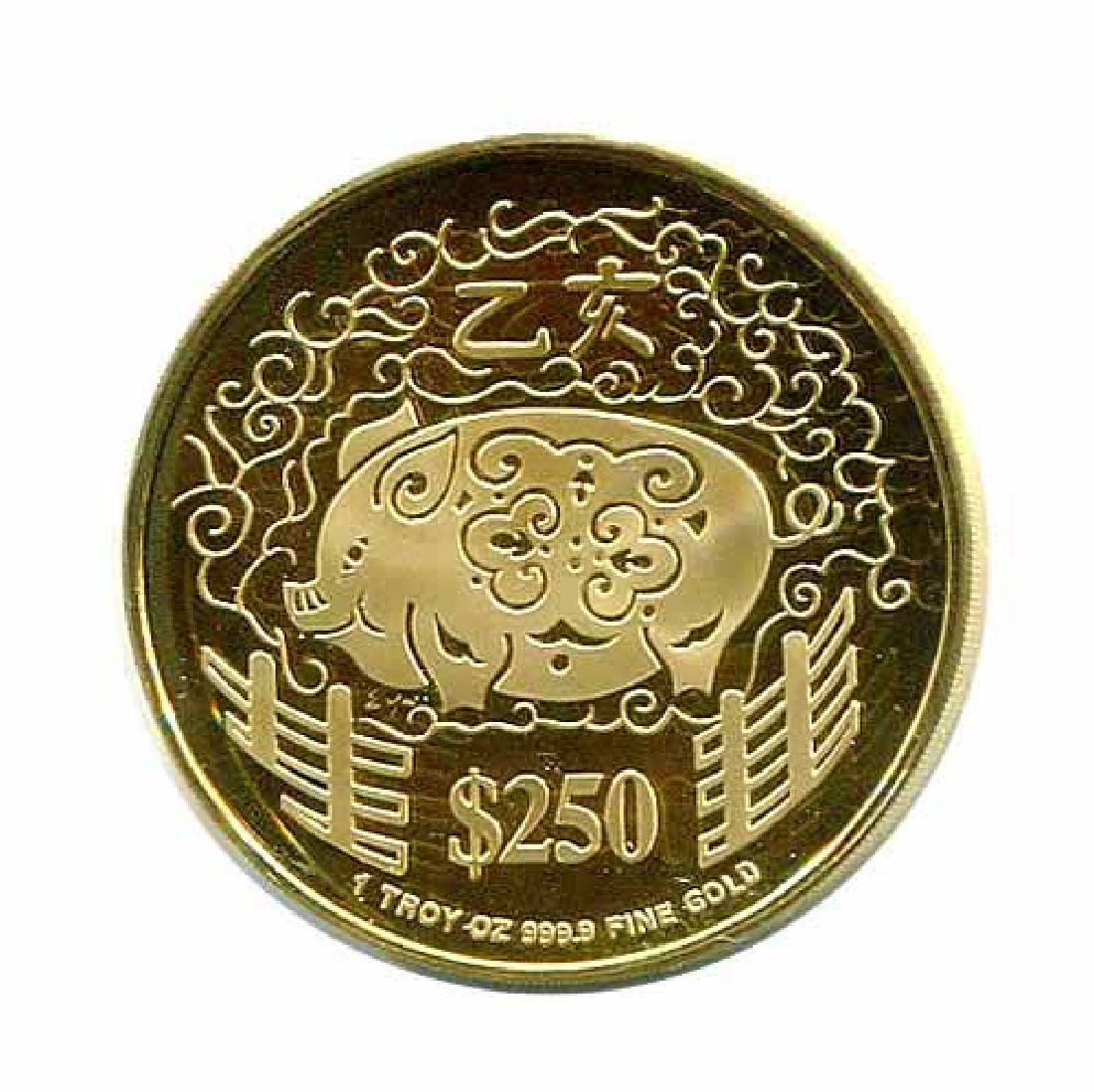 Singapore $250 Gold PF 1995 Year of the Pig