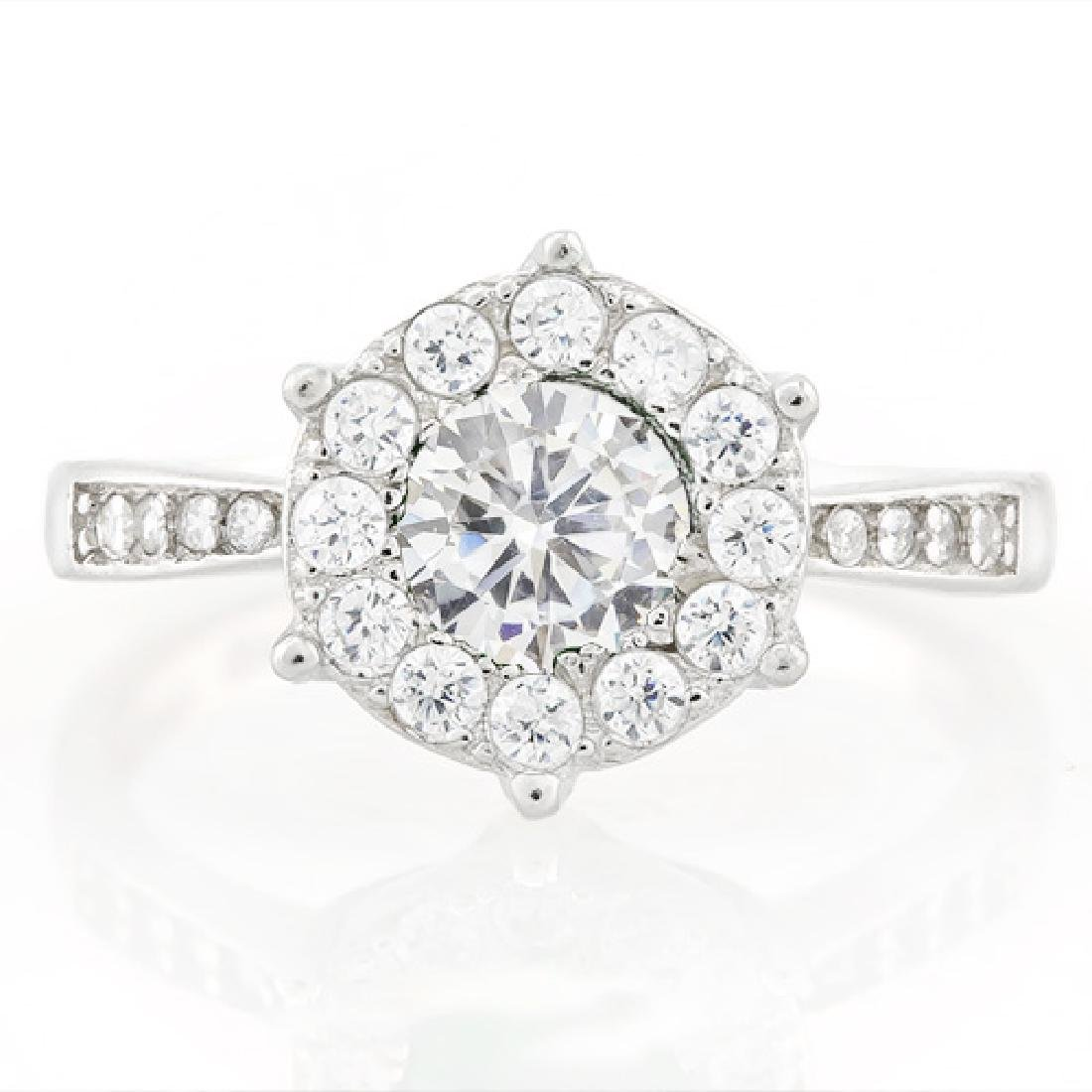 1 1/4 CARAT (25 PCS) FLAWLESS CREATED DIAMOND 925 STERL