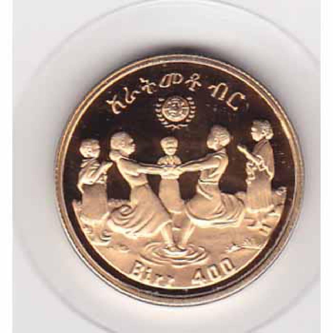 Ethiopia 400 birr gold PF 1979 Year of the Child