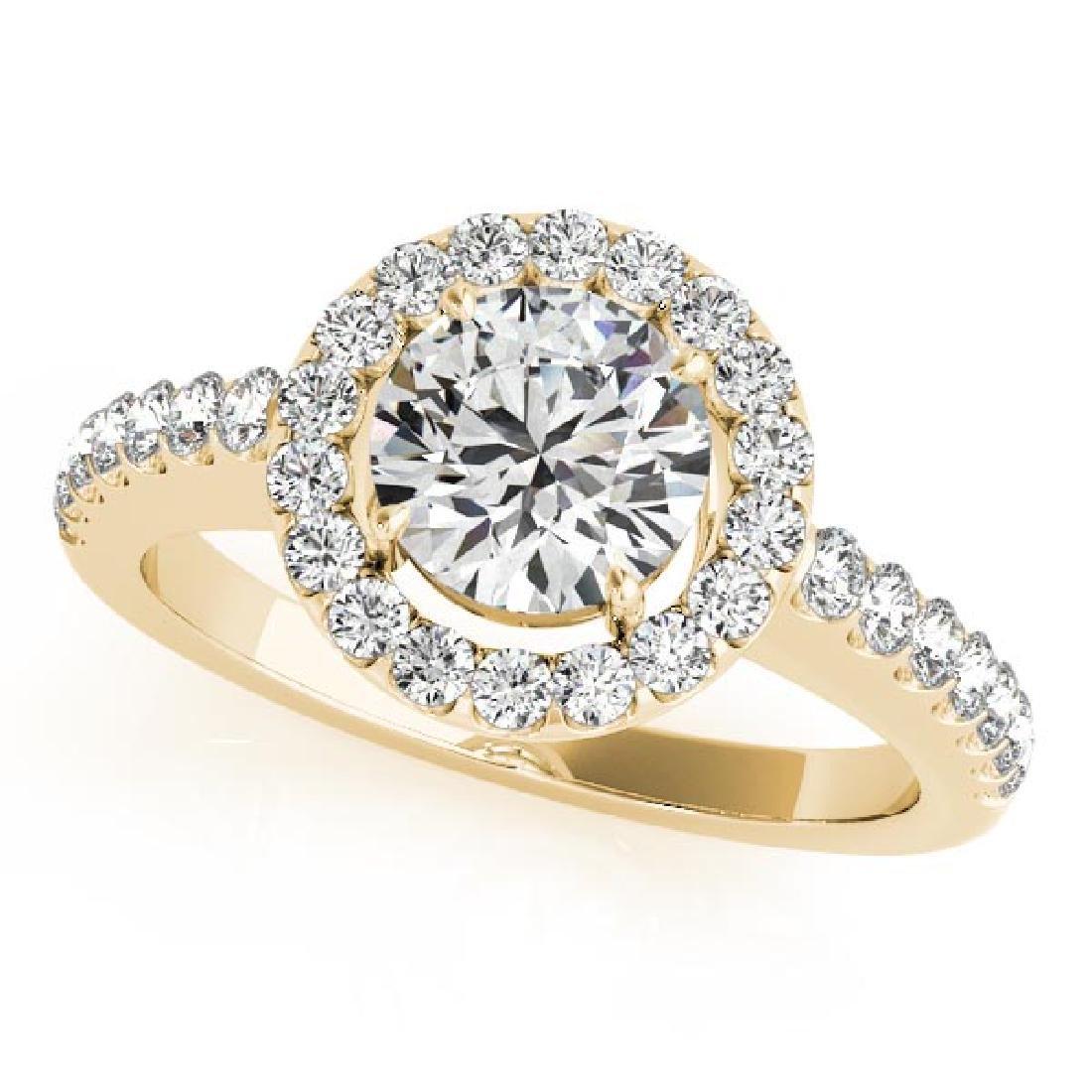 CERTIFIED 18K YELLOW GOLD 1.03 CT G-H/VS-SI1 DIAMOND HA