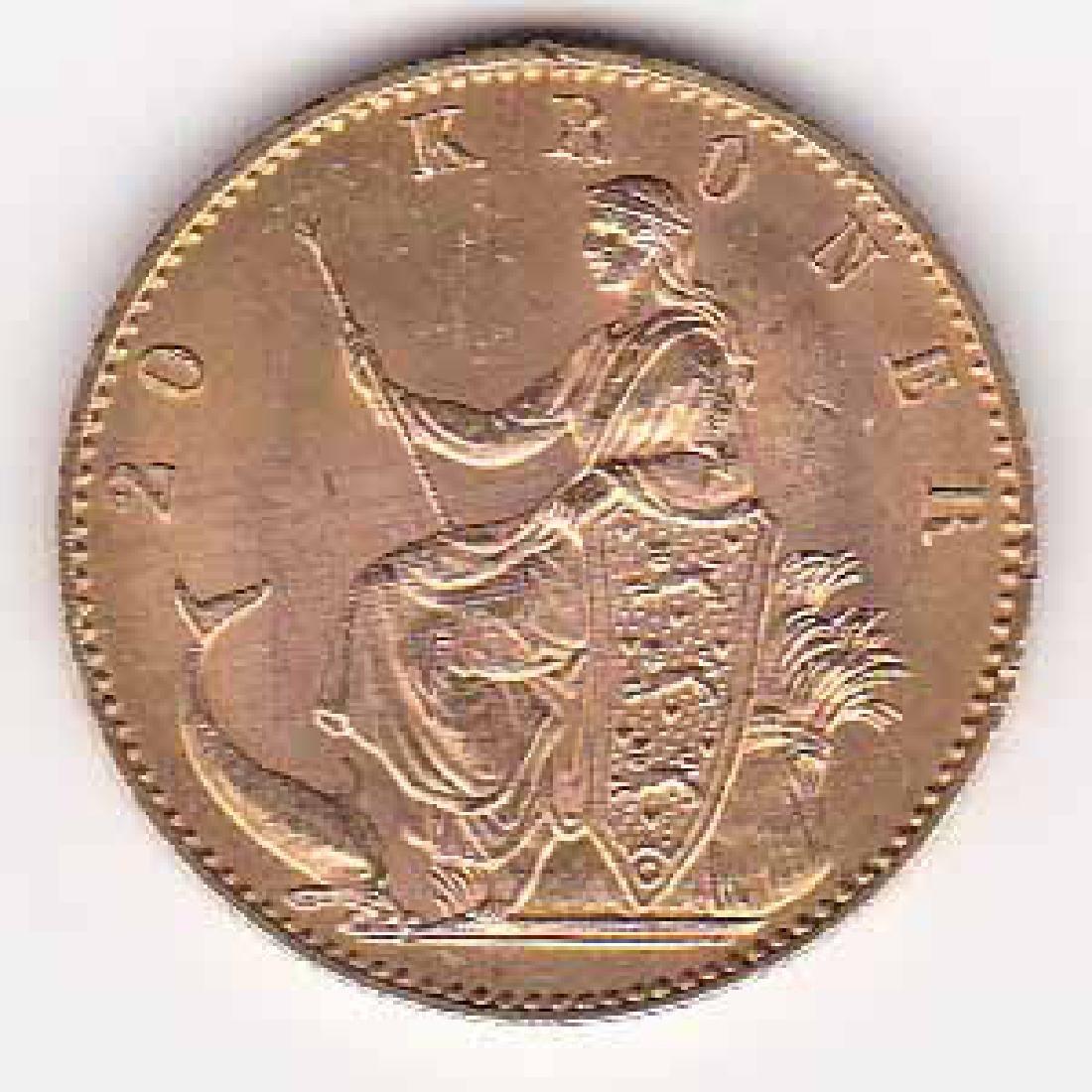 Denmark 20 kroner gold 1900 UNC