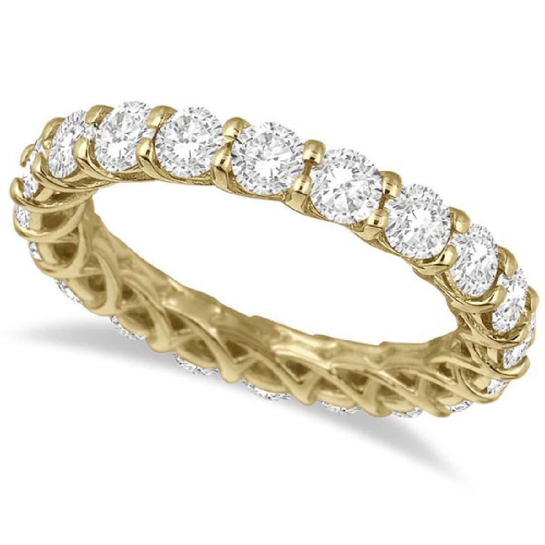 Luxury Diamond Eternity Anniversary Ring Band 14k Yello
