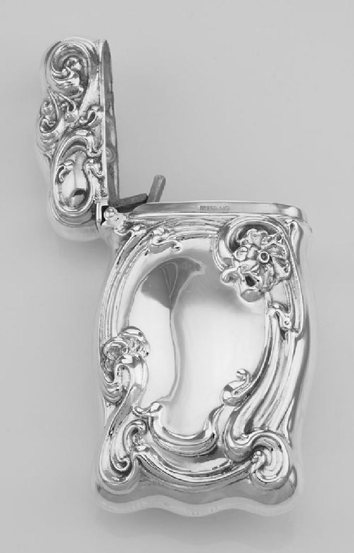 Art Nouveau Floral Scroll Repousse Match Safe Holder Ca - 3