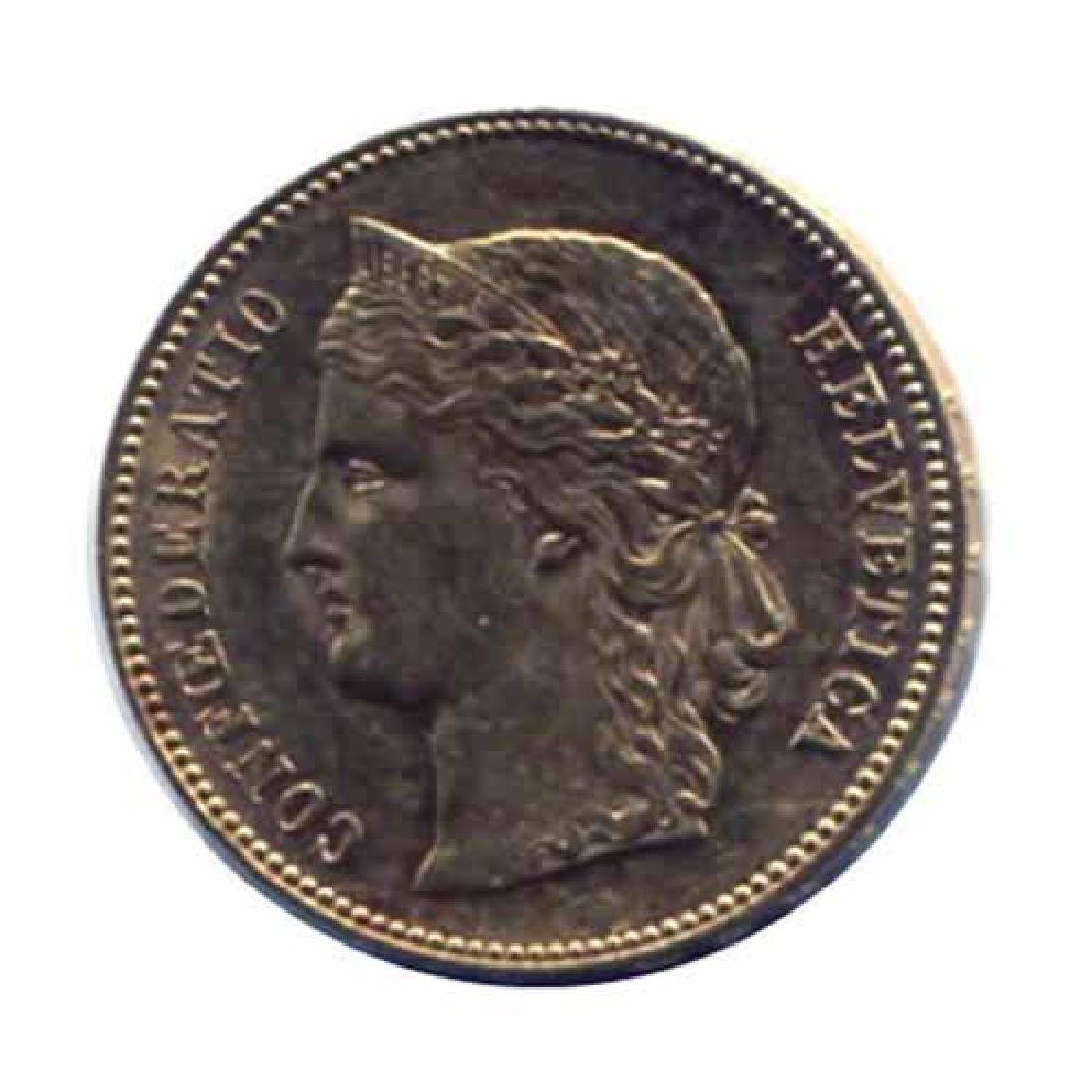 Switzerland 20 francs gold 1886-1896
