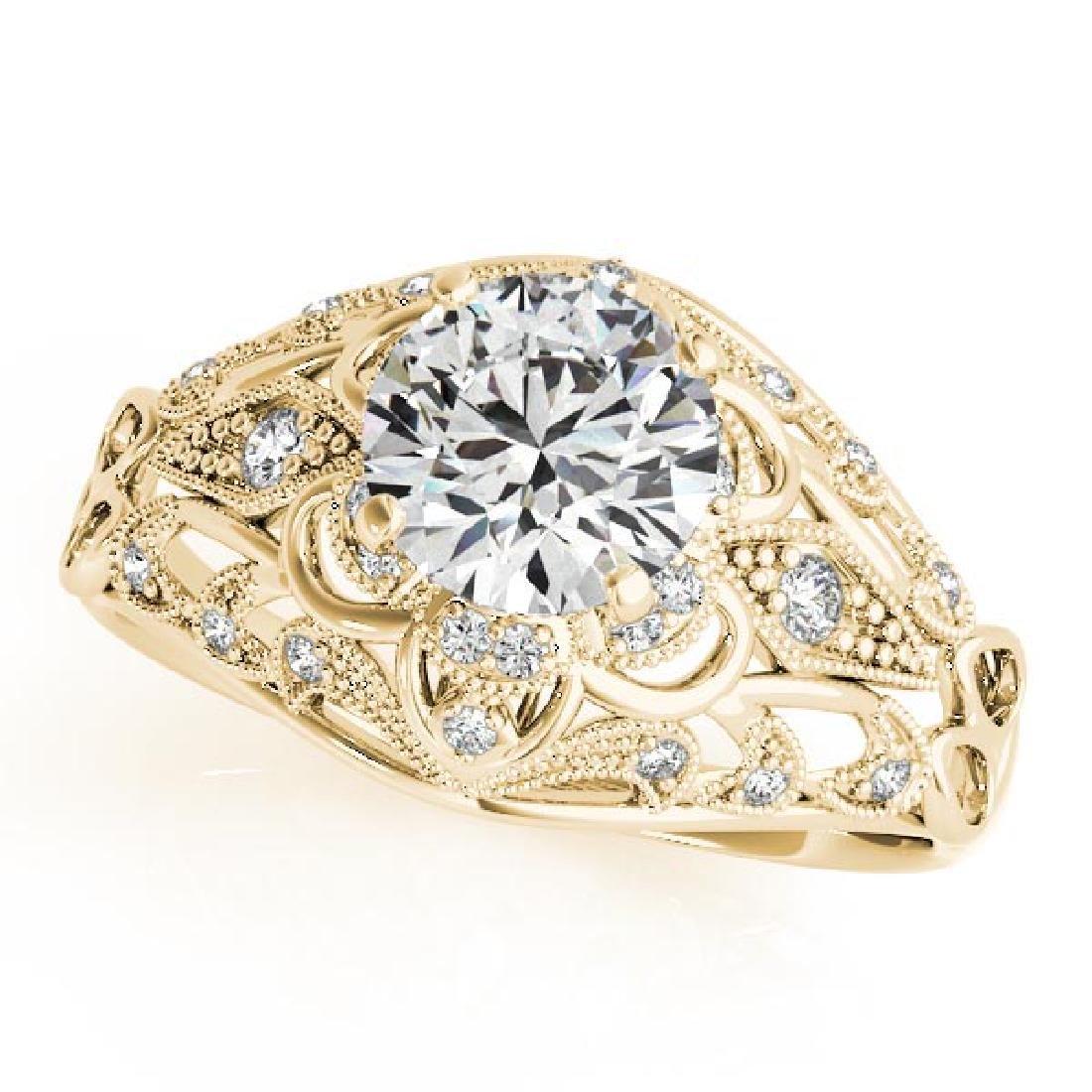 CERTIFIED 18K YELLOW GOLD 0.79 CT G-H/VS-SI1 DIAMOND HA