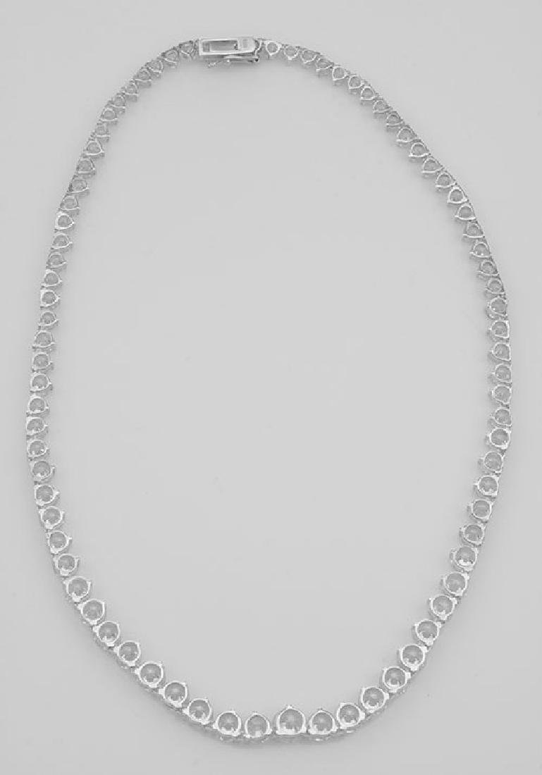 Lovely 81 Prong Set CZs Cubic Zirconia Necklace in Fin - 2