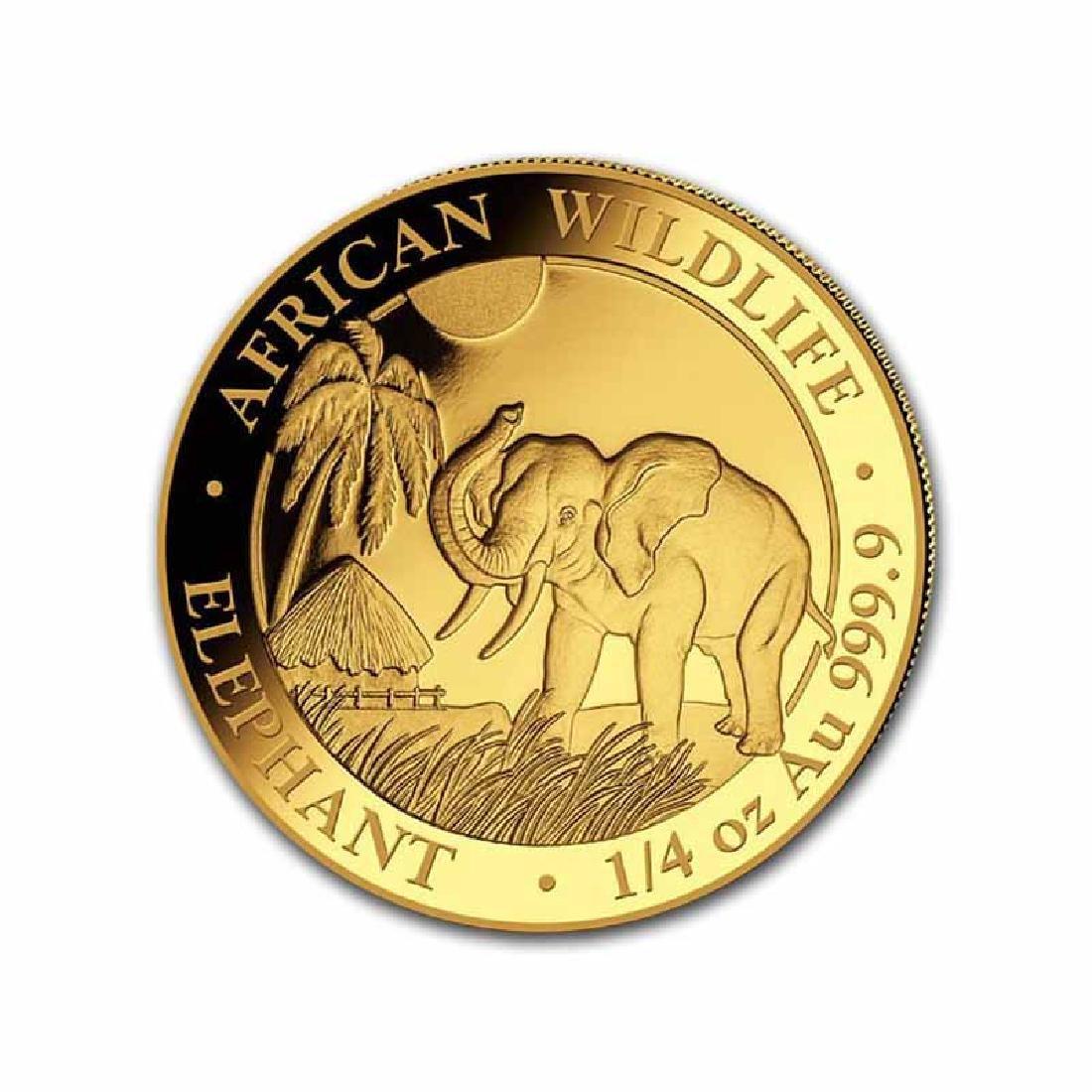 Somalia 2017 Gold Elephant 1/4 ounce