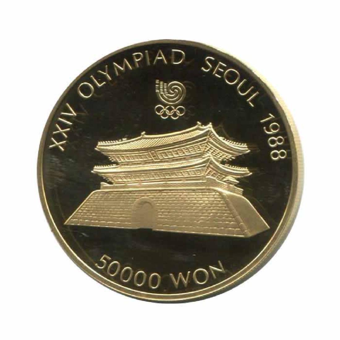 South Korea 50000 Won gold 1988 PF Olympics