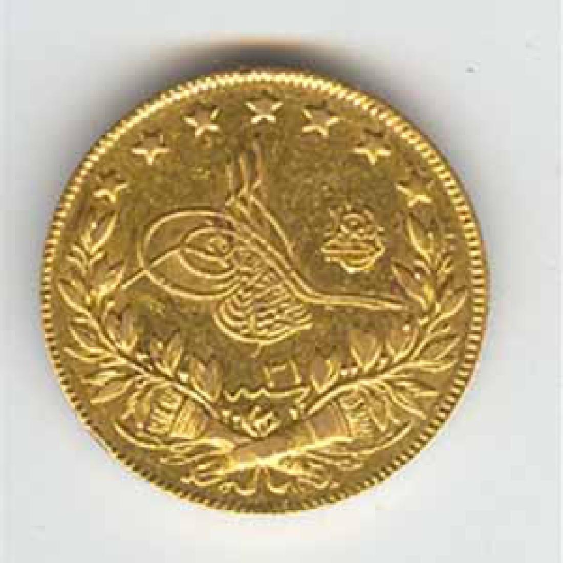 Turkey 100 kurush gold 1876-1908 Abdul Hamid II