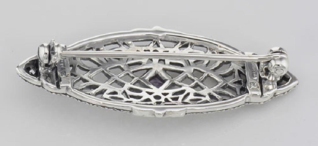 Antique Victorian Style Amethyst Pin / Brooch - Sterlin - 2