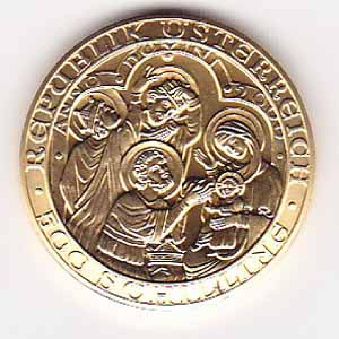 Austria 500 schilling gold 2000 Birth of Jesus