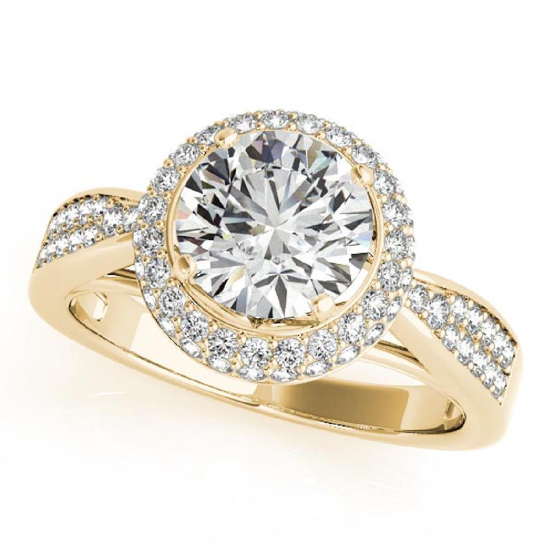 CERTIFIED 18K YELLOW GOLD 0.86 CT G-H/VS-SI1 DIAMOND HA