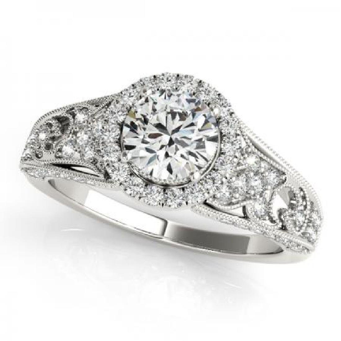 CERTIFIED PLATINUM 1.31 CT G-H/VS-SI1 DIAMOND HALO ENGA