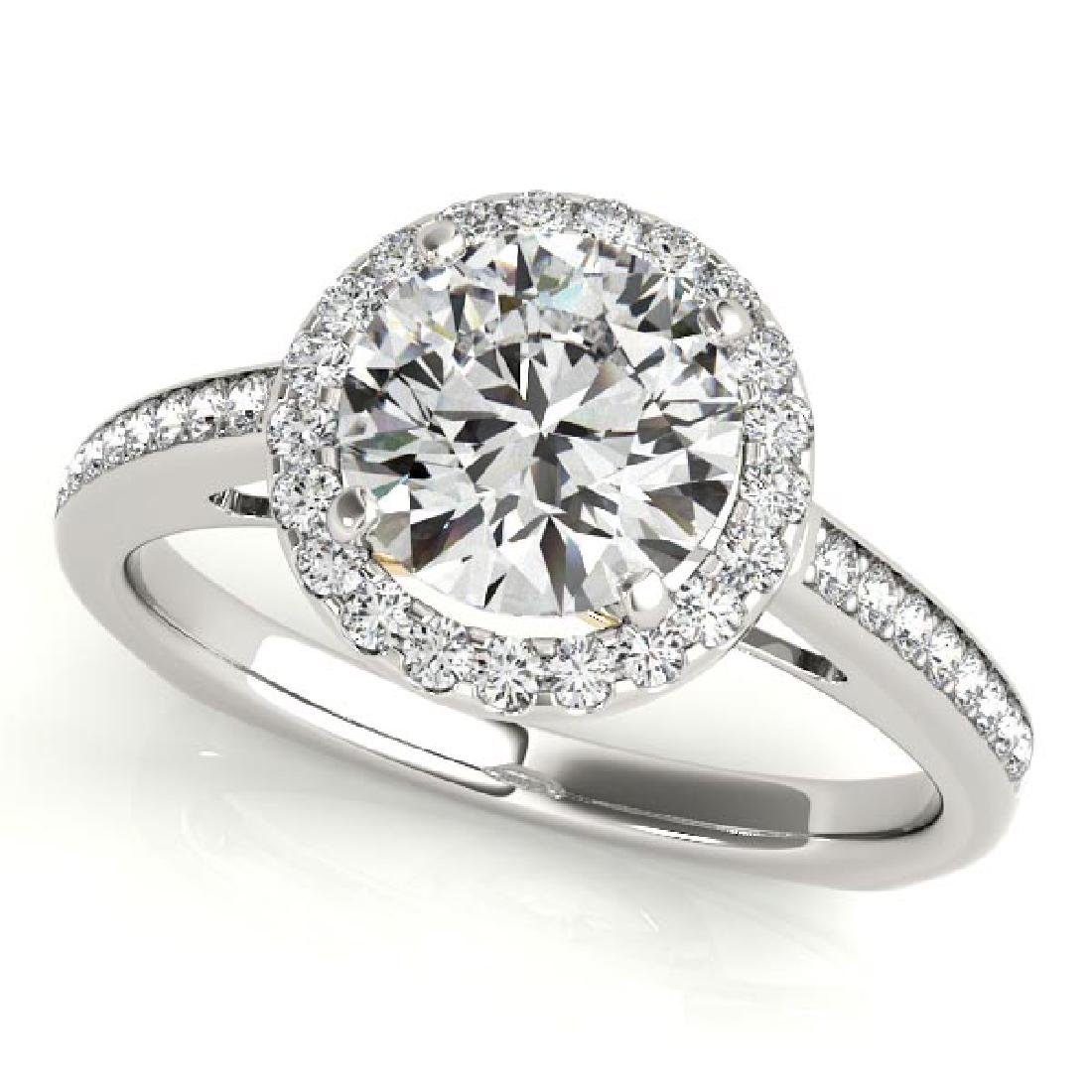 CERTIFIED TWO TONE GOLD 1.16 CT G-H/VS-SI1 DIAMOND HALO