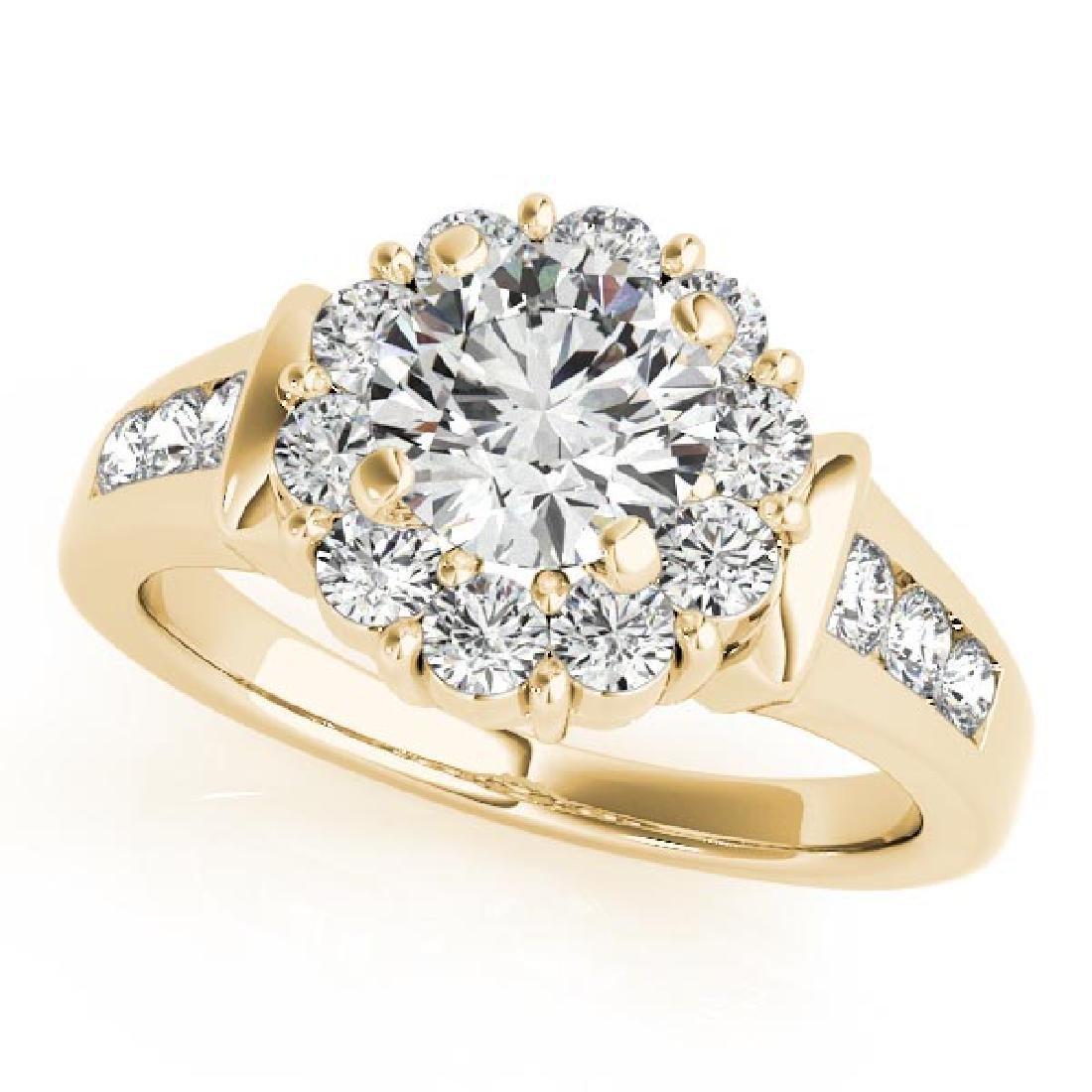 CERTIFIED 18K YELLOW GOLD 1.54 CT G-H/VS-SI1 DIAMOND HA