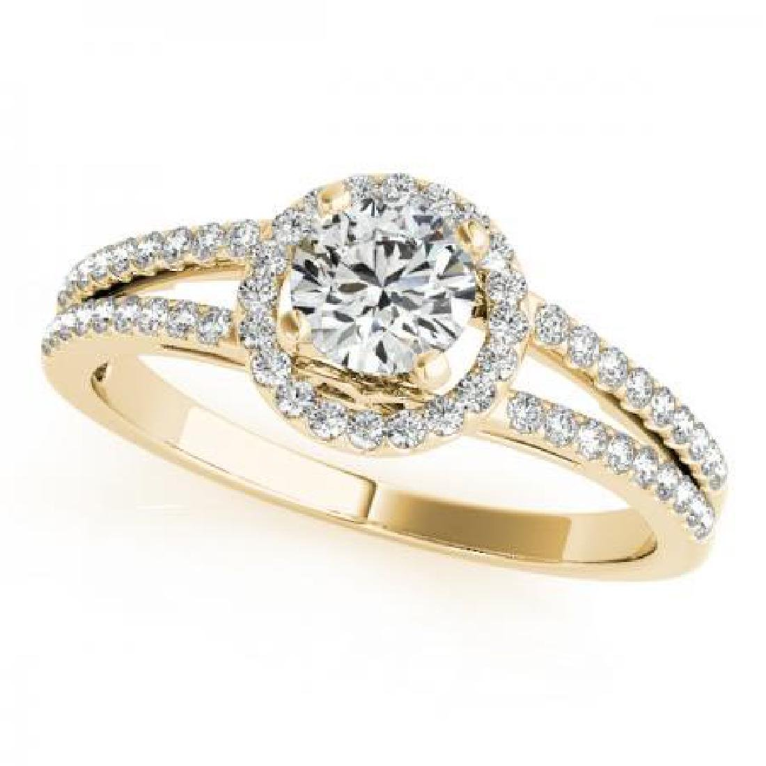 CERTIFIED 18K YELLOW GOLD .95 CT G-H/VS-SI1 DIAMOND HAL