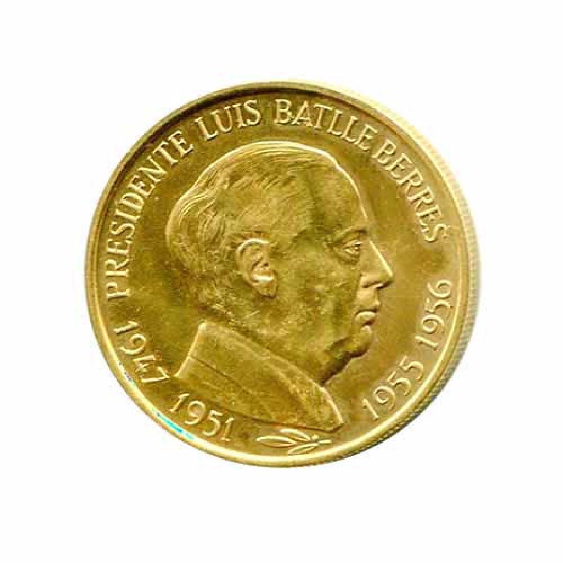 Uruguay Gold Medal President Luis Batlle Berres