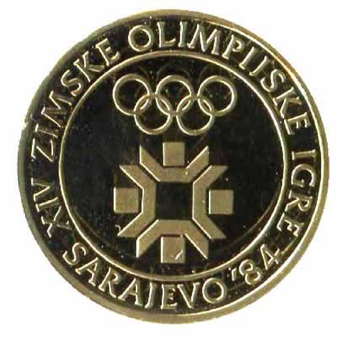 Yugoslavia 5000 dinara gold pf 1982 Olympics