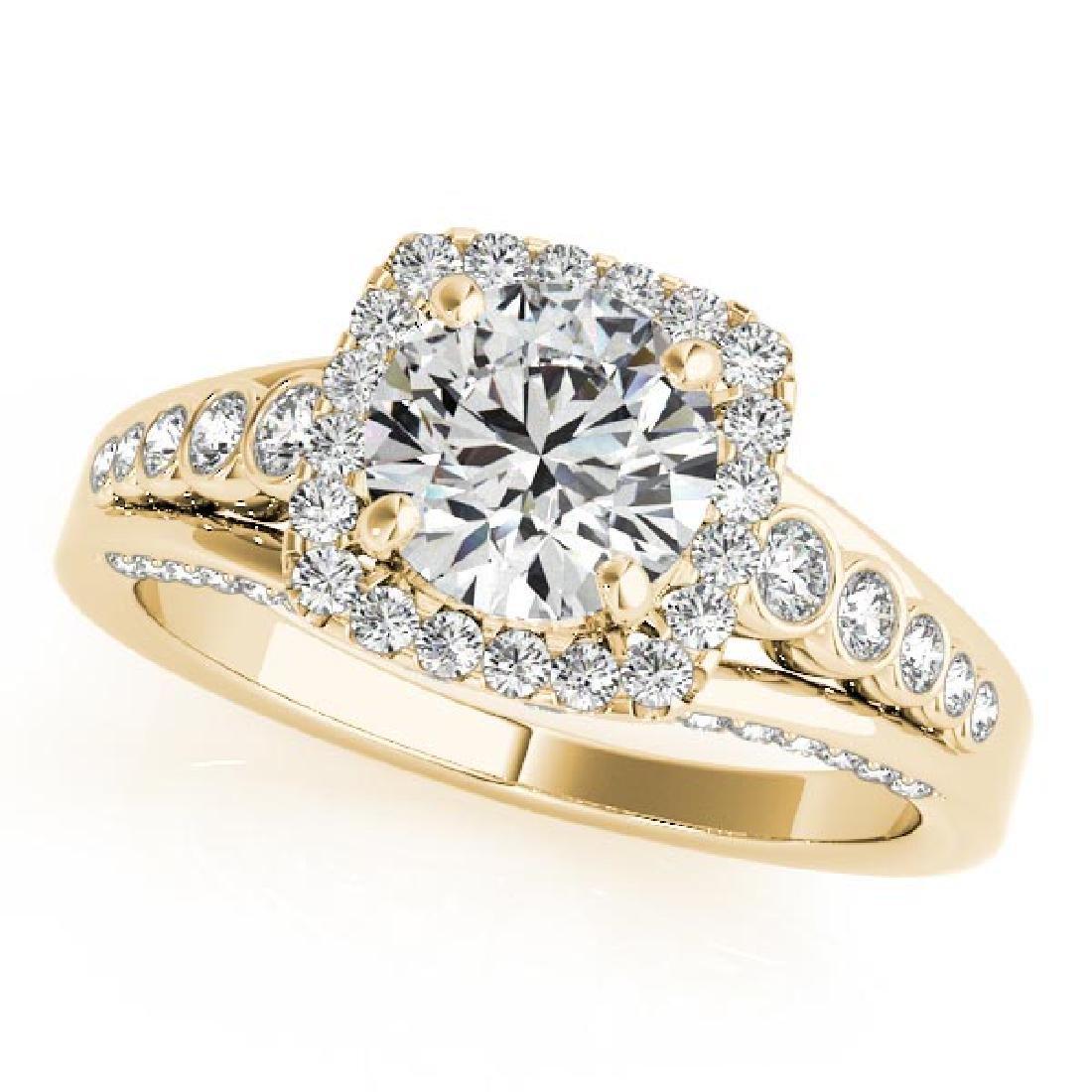 CERTIFIED 18K YELLOW GOLD 1.02 CT G-H/VS-SI1 DIAMOND HA