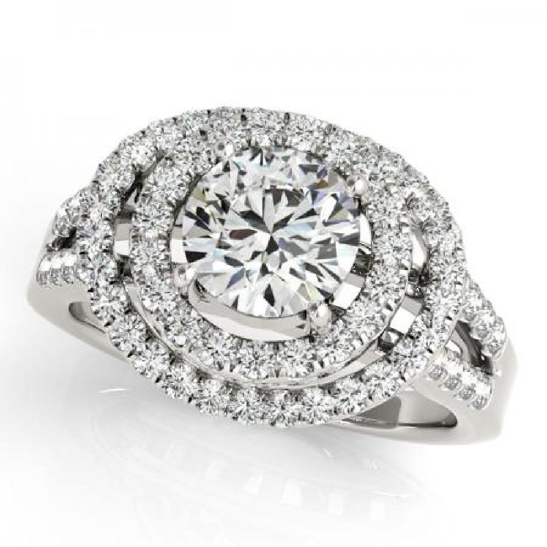 CERTIFIED PLATINUM 1.55 CT G-H/VS-SI1 DIAMOND HALO ENGA