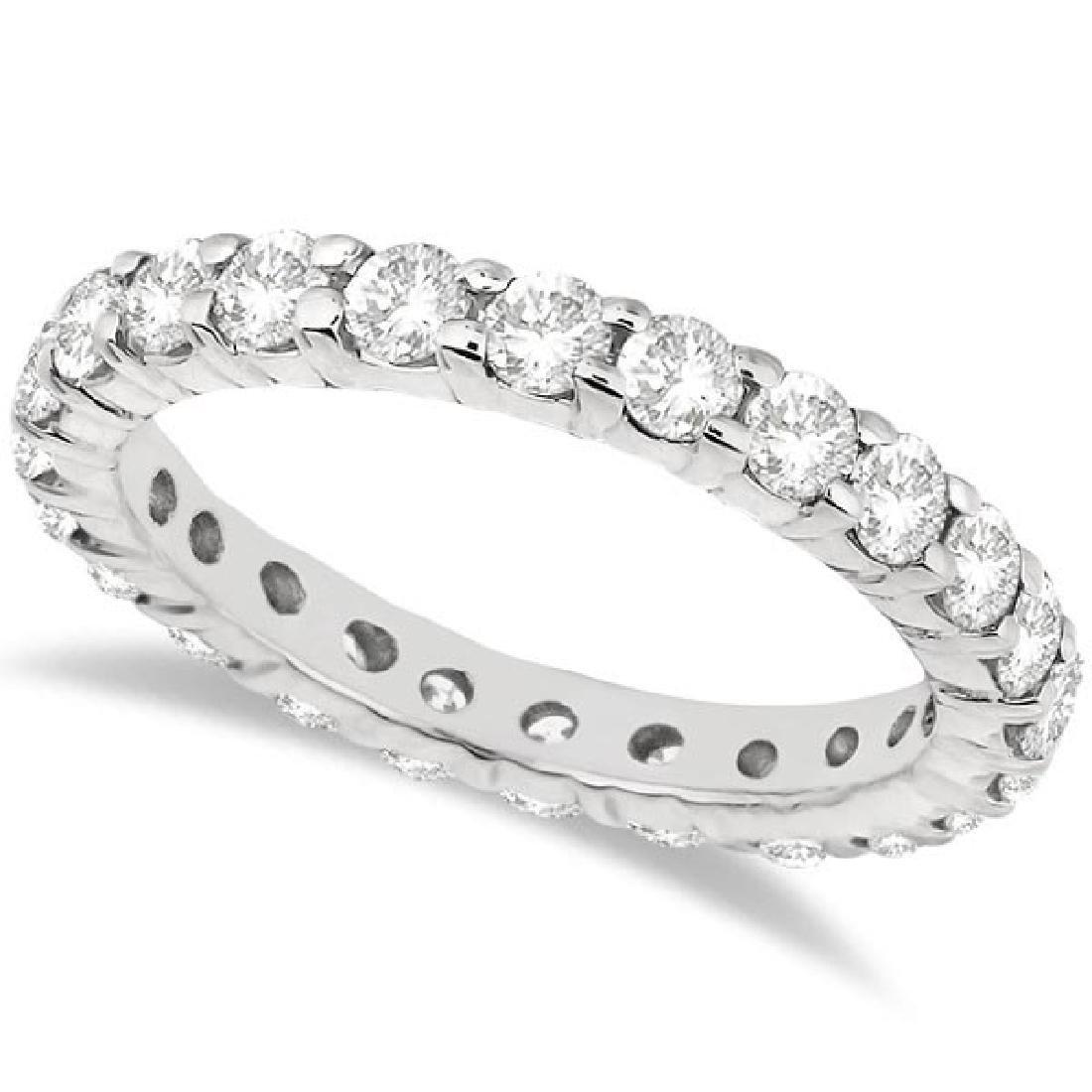 Diamond Eternity Ring Wedding Band in 14k White Gold (2