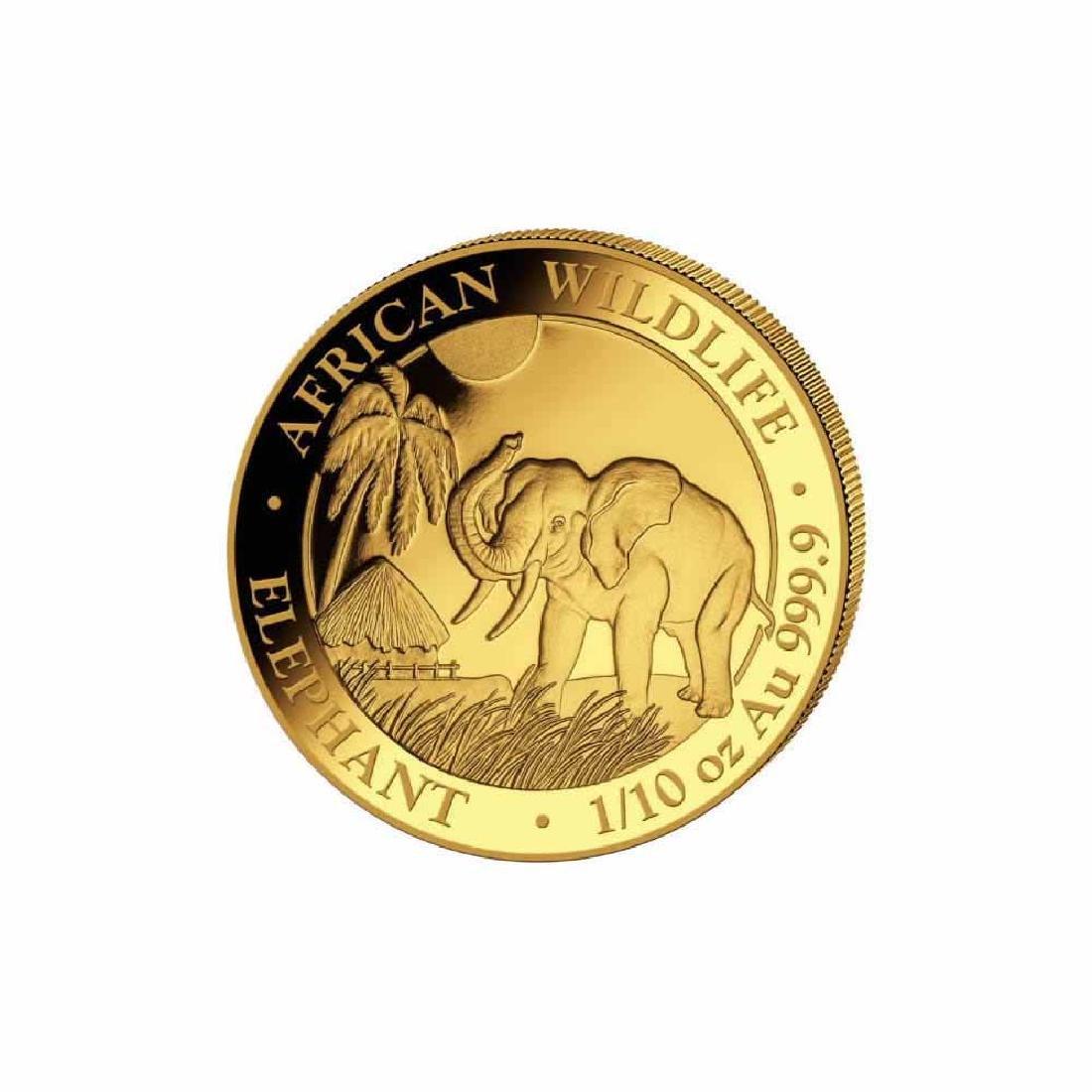 Somalia 2017 Gold Elephant 1/10 ounce