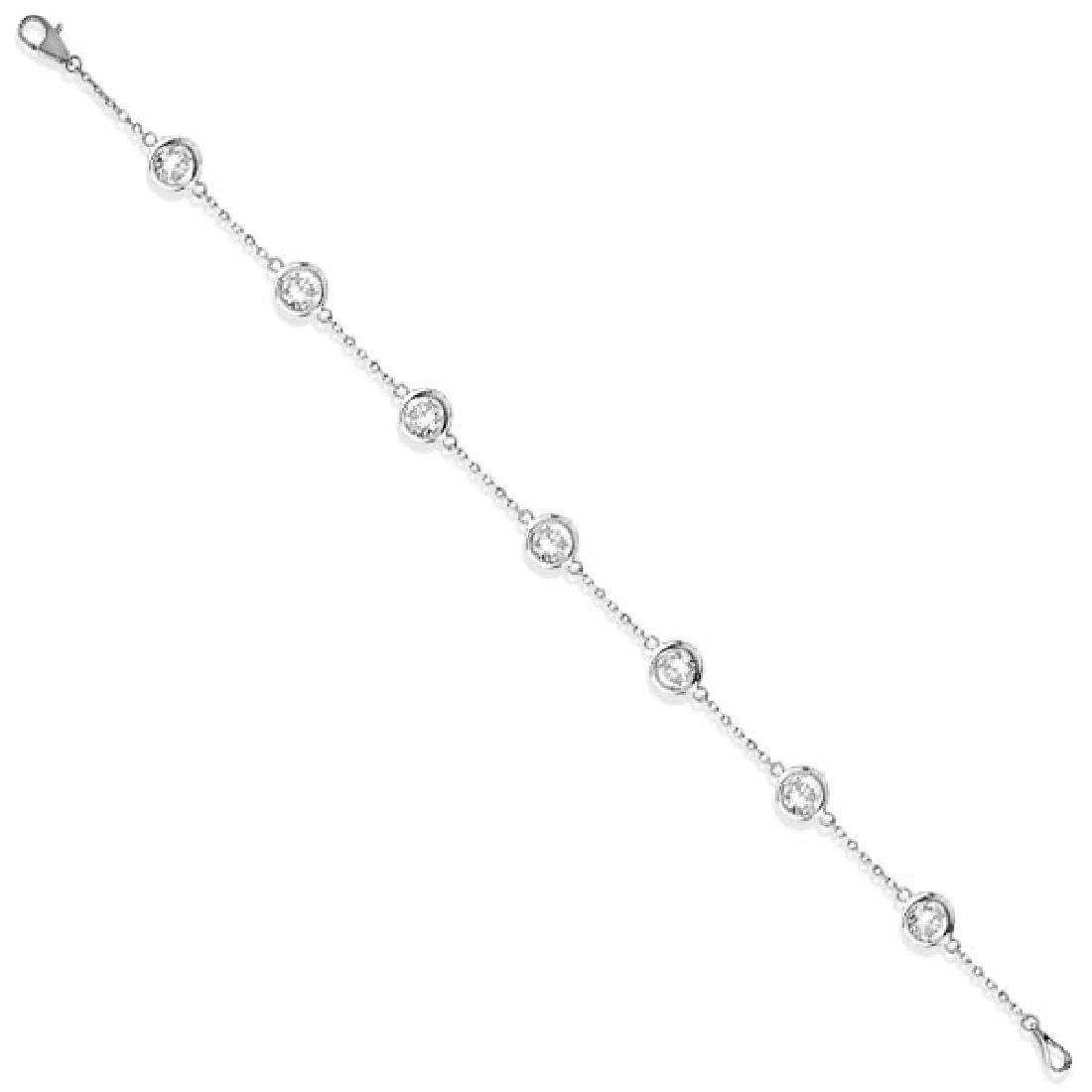 Diamonds by The Yard Bezel-Set Bracelet 14K White Gold