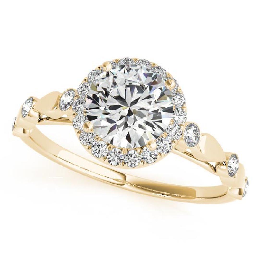 CERTIFIED 18K YELLOW GOLD 1.56 CT G-H/VS-SI1 DIAMOND HA