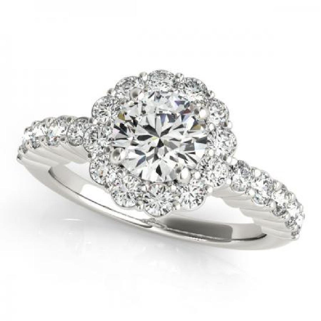 CERTIFIED PLATINUM 1.21 CT G-H/VS-SI1 DIAMOND HALO ENGA