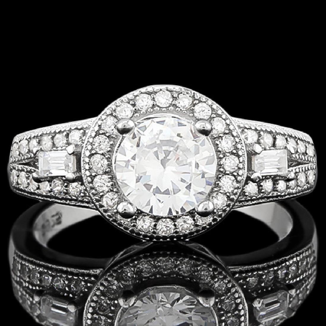 1 CARAT FLAWLESS CREATED DIAMOND 925 STERLING SILVER HA
