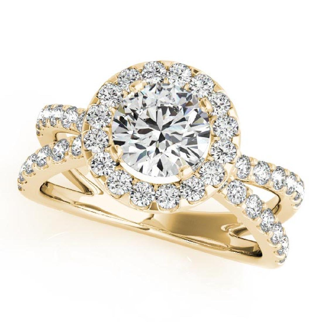 CERTIFIED 18K YELLOW GOLD 1.38 CT G-H/VS-SI1 DIAMOND HA