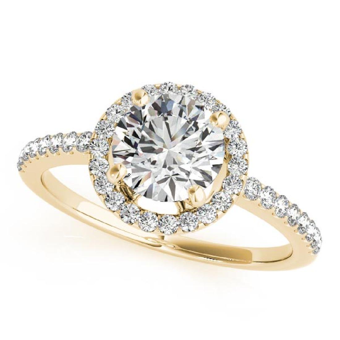 CERTIFIED 18K YELLOW GOLD 1.58 CT G-H/VS-SI1 DIAMOND HA