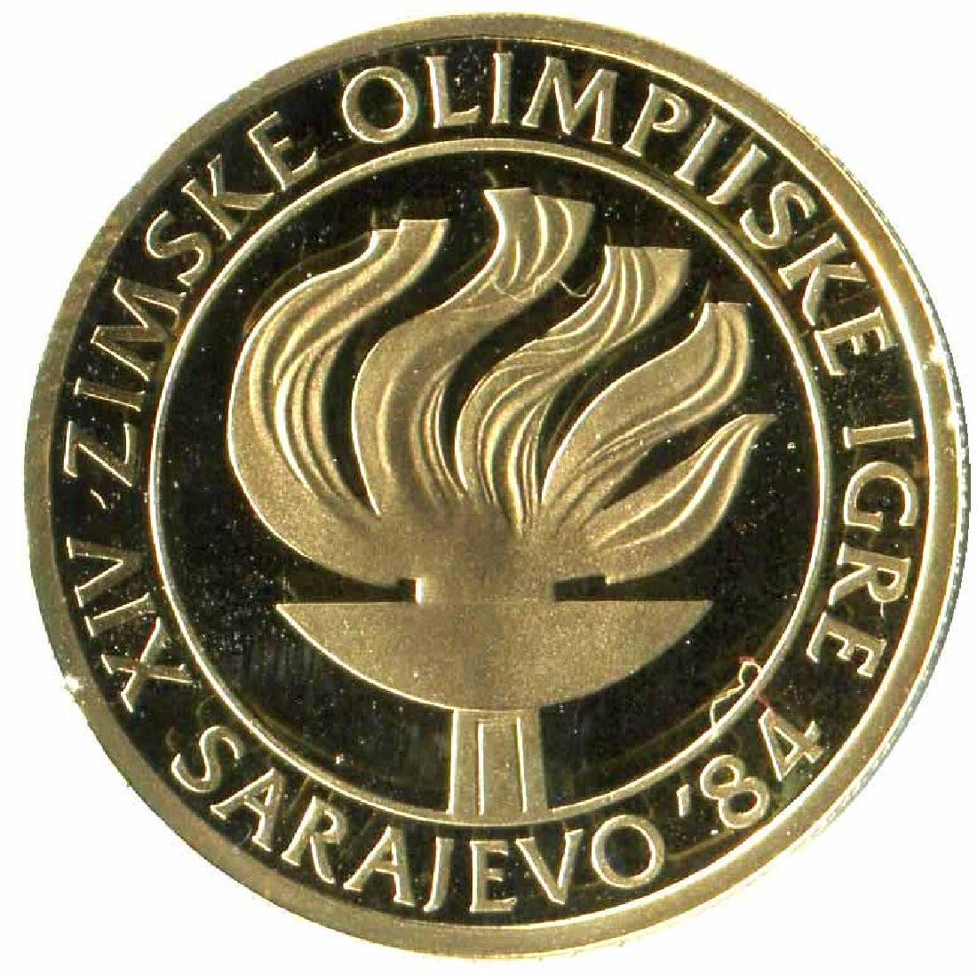 Yugoslavia 5000 dinara gold PF 1984 Olympics
