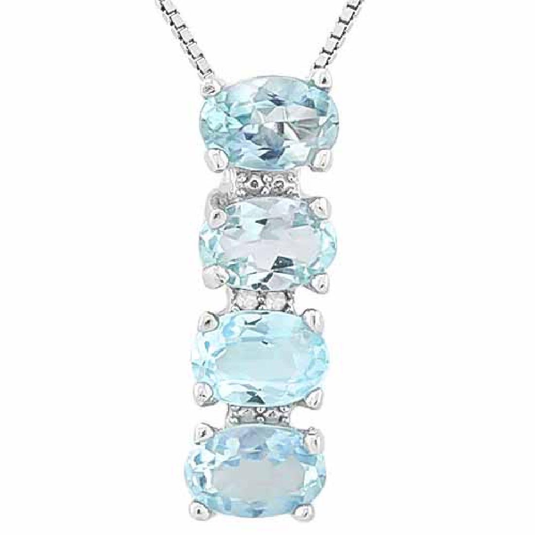 9 1/4 CARAT BABY SWISS BLUE TOPAZ 925 STERLING SILVER P