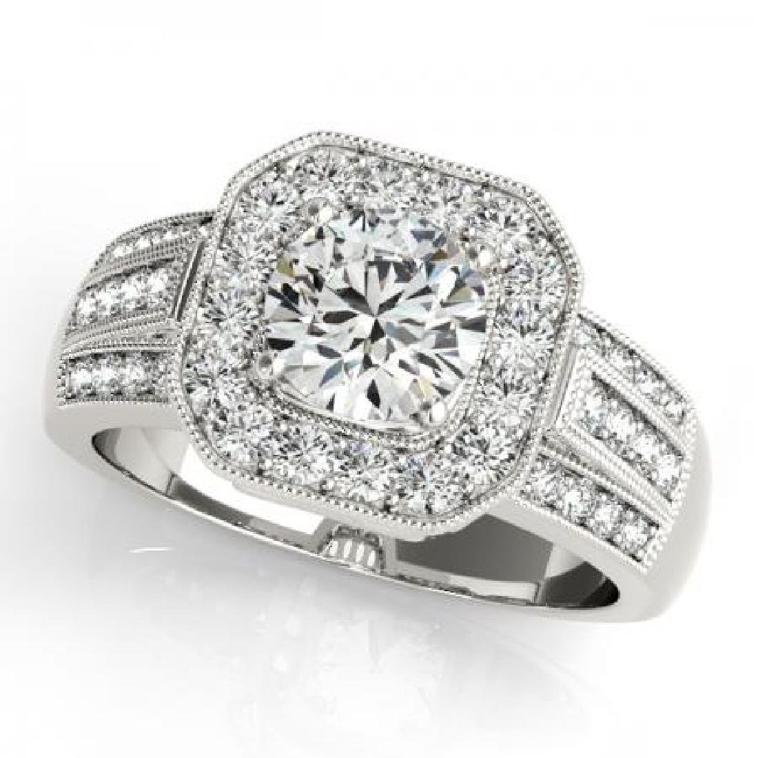 CERTIFIED PLATINUM 1.20 CT G-H/VS-SI1 DIAMOND HALO ENGA