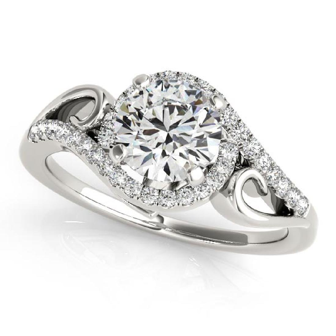 CERTIFIED 14K WHITE GOLD 1.00 CT G-H/VS-SI1 DIAMOND HAL