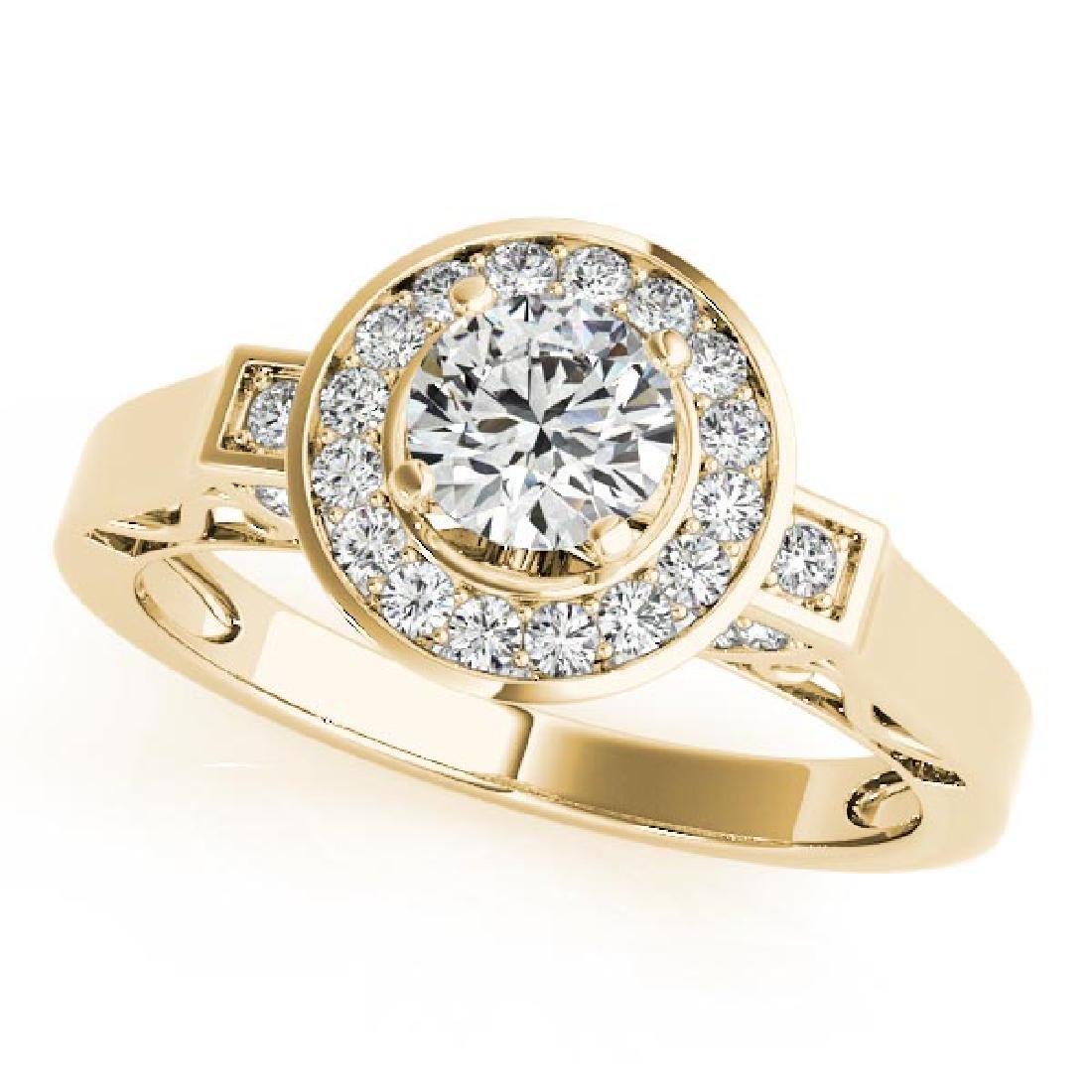 CERTIFIED 18K YELLOW GOLD 0.97 CT G-H/VS-SI1 DIAMOND HA
