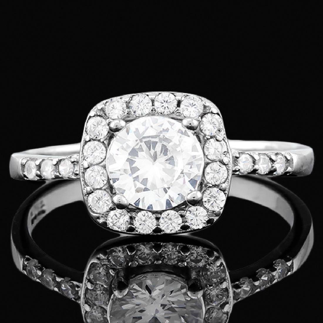 1 1/2 CARAT (27 PCS) FLAWLESS CREATED DIAMOND 925 STERL