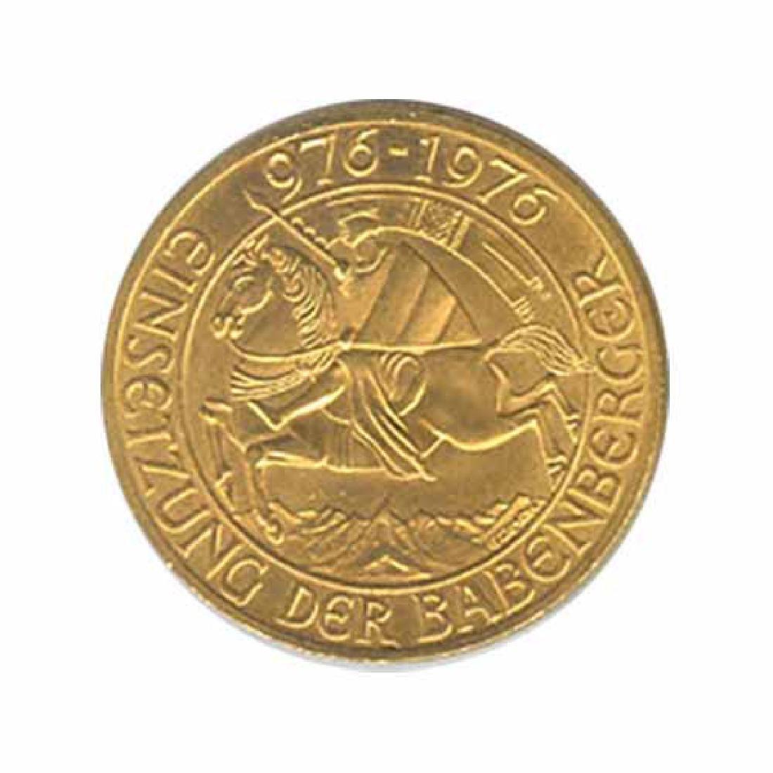 Austria gold 1000 schilling 1976 Babenburg Dynasty