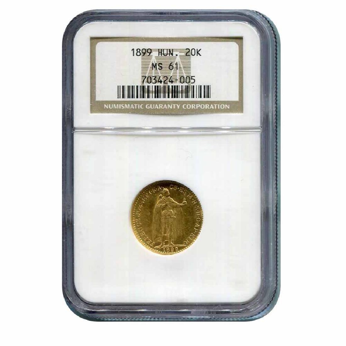 Hungary 20 Korona Gold 1899 MS61