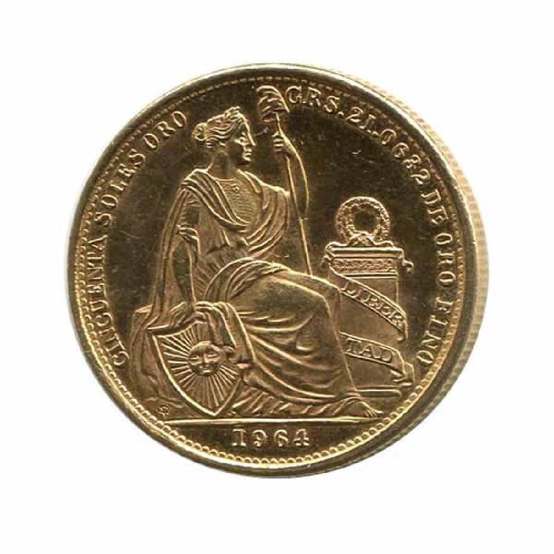 Peru 50 soles gold 1950-1970